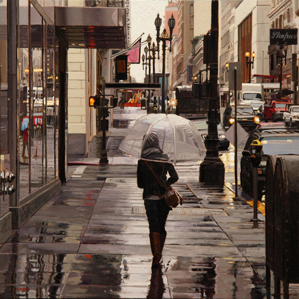 Clear-Umbrella_12inx12in_oil-on-panel- Greg Gandy